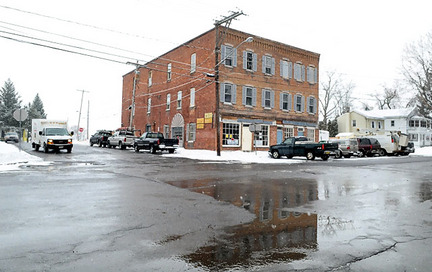 The building at 401 First St. in Liverpool is being converted into office space and apartments. It's one of the few remaining structures from Liverpool's original business district that grew to serve the salt industry and the traffic on the Oswego Canal.